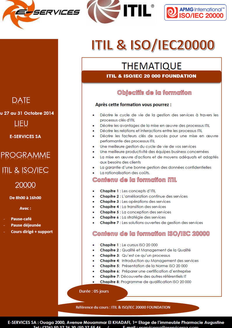 Formation ITIL